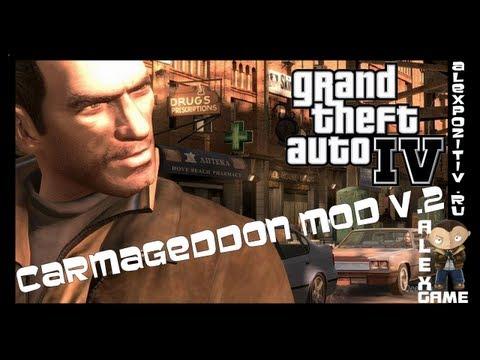 Приколы GTA 4. Carmageddon mod. v.2 Alex