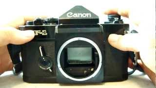Canon Old F-1 35mm Film SLR Camera Review