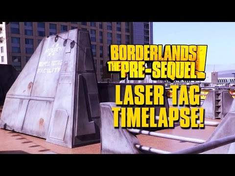 BORDERLANDS: THE PRE-SEQUEL Laser Tag Timelapse Build @ SDCC!