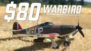 RC WARBIRD - Hurricane MKII Warbird - MAIDEN, FLIGHTS, & REVIEW
