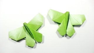 How to fold origami butterfly 摺紙蝴蝶教學 (Kade Chan)