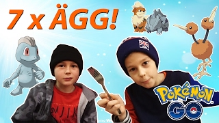 Pokemon Go! | KLÄCKER 7 x ÄGG! | Mega-Snorlax-glitch | Crash Brothers