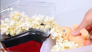 Baby doli Popcorn Bath Play Surprise toys / Trò Chơi Săn Rắn Hổ Mang