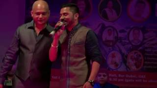A super hit performance - Lali Ho by Pappu Karki at Uttarakhand Musical Nite 2016 in UAE