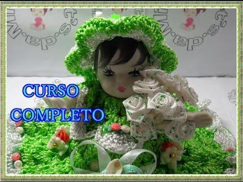 Boneca Sachê de Crochê Curso Gratuito