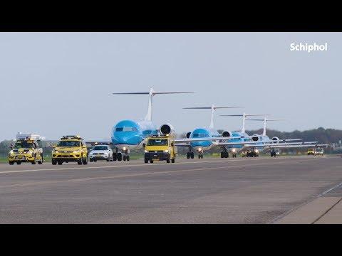 Afscheid laatste Fokker 70's op Schiphol