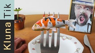 BABY KOI CARP for LUNCH!!! Kluna Tik Dinner #78 | ASMR eating sounds no talk