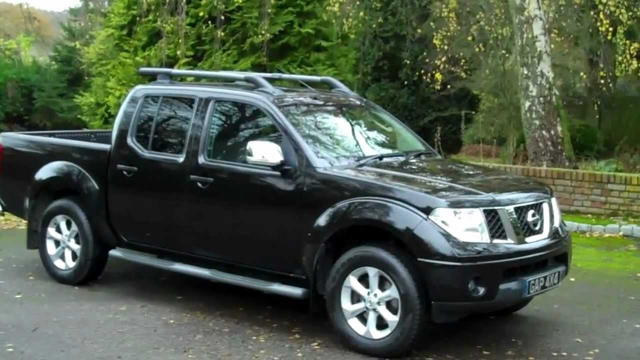 Nissan navara 2 5 dci aventura automatic 2008 58 black with leather youtube