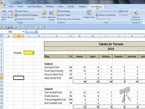 Excel 2007 - Modulo 4   Aula 18   Macro Simples Colar Valores e Classificacao Composta de Dados