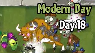 Plants vs Zombies 2 - Modern Day - Day 18: Zombie Bull in the present