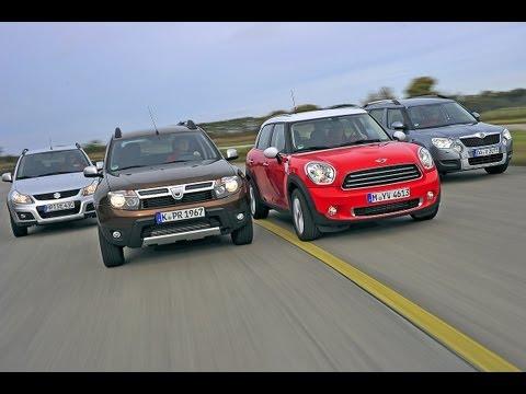 Mini Countryman. Suzuki SX4. Dacia Duster...  - Kleine Allradler im Vergleich