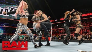 Becky Lynch and Ronda Rousey brawl with The Riott Squad after Raw: Raw Exclusive, Feb. 11, 2019
