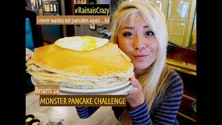 Brian's 24 PANCAKE CHALLENGE in San Diego   As seen on Man vs Food   RainaisCrazy