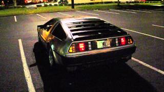 Turbo Delorean running