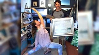 Exalted warrior: B.C. artist paints Sophie Gregoire Trudeau in yoga pose