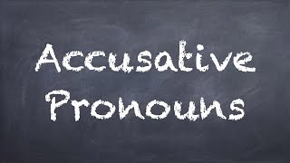 Accusative Pronouns - German 1 WS Explanation