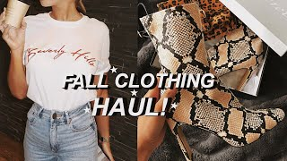 AFFORDABLE FALL CLOTHING HAUL! | Sian Lilly