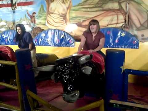 Girls Bull Riding In Skegness