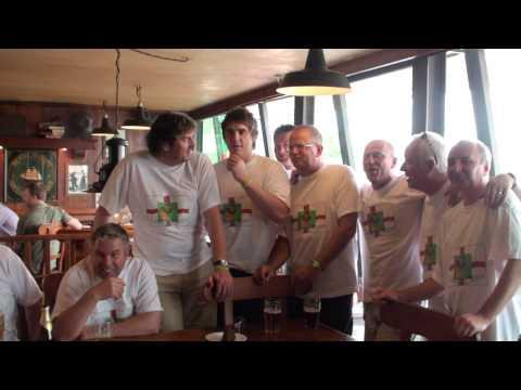 England fans sing in lisboa