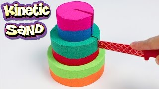 DIY Kinetic Sand Colored Cake! How to Make a 3 Layered Cake with Play Sand!