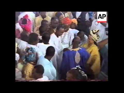 NIGERIA: GENERAL OBASANJO CELEBRATES HIS RELEASE FROM JAIL