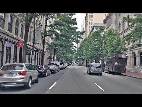 Driving Downtown - Richmond's Main Street 4K - Virginia USA