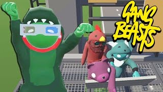 NO TALK, JUST PAIN!   Gang Beasts Online Funny Moments Part 19
