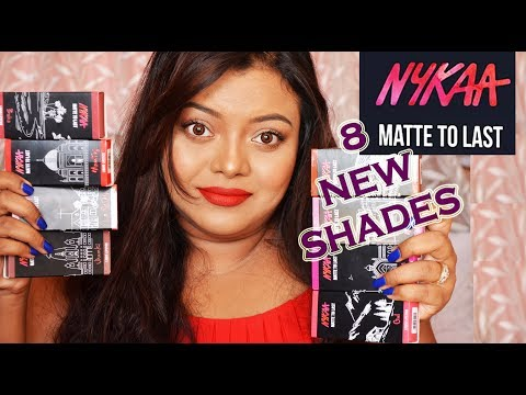 *New* Shades NYKAA MATTE TO LAST Liquid Lipsticks | All 8 New Shades