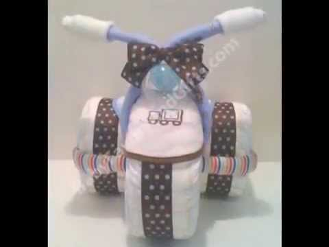 Making A Tricycle Diaper Cake