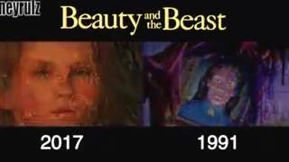 The new Beauty and the Beast trailer shot for shot with the original movie (1991-2017)