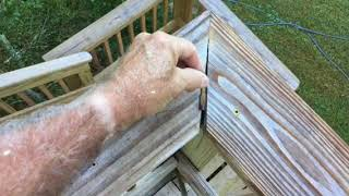 Closing the gap in a miter joint