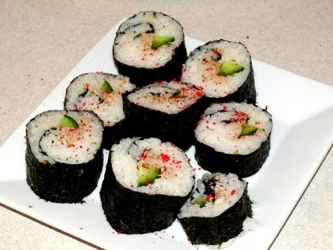 Nori Maki Sushi (OUR way) -- cooking with mom