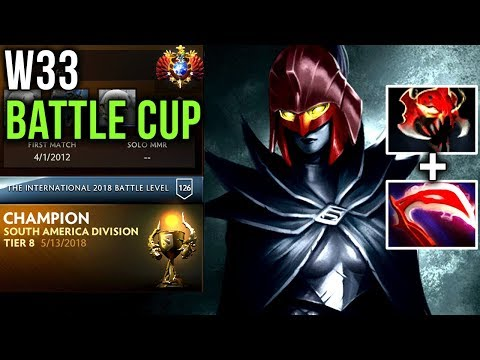 RANK 1 World Dota 2 w33haa Battle Cup with his Team paiN Gaming - Visage, WR, PA - Dota 2