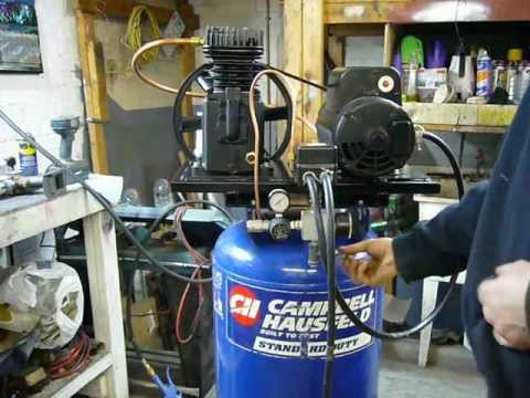 Campbell Hausfeld Air Compressor Upgrade: Oil-less 5 CFM To Twin Cylinder 14 CFM