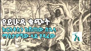Narration ትረካ : ይሁዳ ክርስቶስን ከሸጠው በኋላ የጻፈው  - By Andulalem Tesfaye