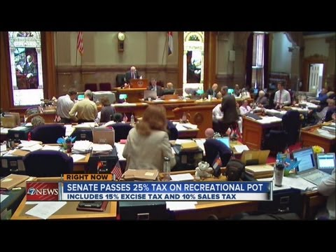 Senate passes 25% tax on recreational marijuana