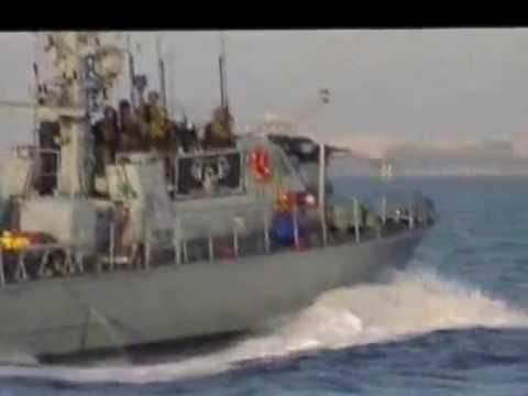 The Israeli navies attack the Palestinian fishermen boats in Gaza's water 31/10/2012