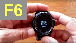 No.1 F6 Rugged IP68 Waterproof Sports Smartwatch: Unboxing & Review