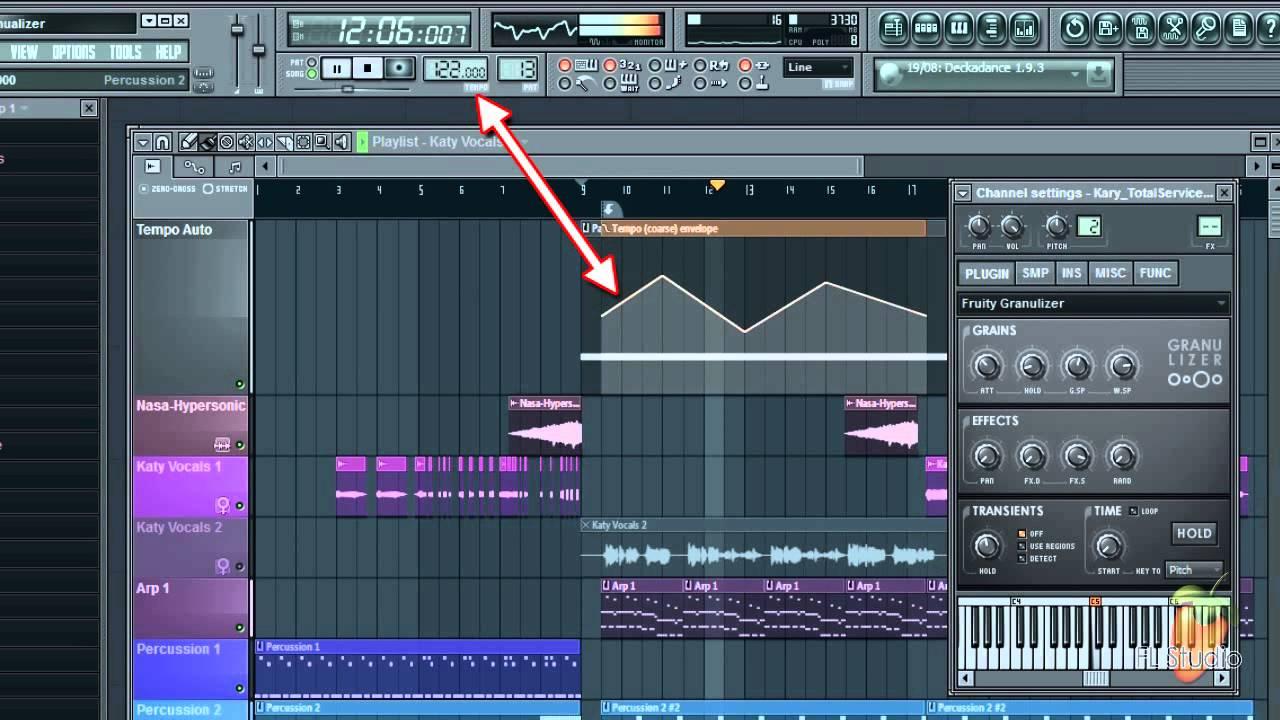 Fl Studio Guru Tempo Sync Time Stretching With Fruity