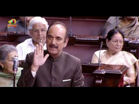 Ghulam Nabi Azad Attacks PM Modi In Rajya Sabha | Mango News