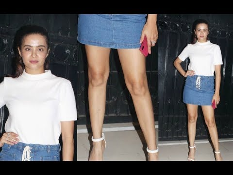 Surveen Chawla Hot Legs Show At The Test Case Web Series Screening