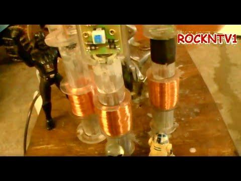 stirling engine x3 Linear alternator generator make electricity with magnets