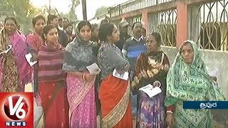 Tripura Assembly Elections 2018 : Voters Throng At Polling Stations To Cast There Vote