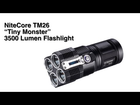 "NiteCore TM26 ""Tiny Monster"" 3500 Lumen Flashlight from ThinkGeek"
