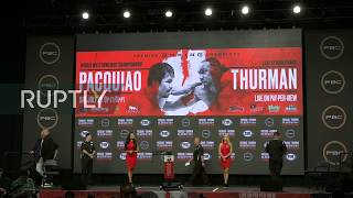 LIVE Pacquiao vs Thurman fight for WBA championship official weighin