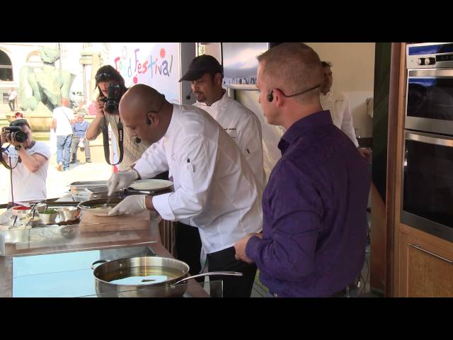 CBD  Food Festival Demo 2014 - Asha's Contemporary Indian Bar & Grill