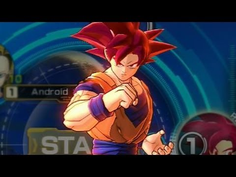 Dragon Ball Z: Battle of Z  - Super Saiyan God Goku Red Kamehameha Super Move Attacks