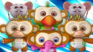 năm con khỉ nhỏ | nhac thieu nhi hay nhất | ca nhac thieu nhi | Five Little Monkeys