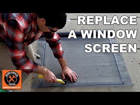 Custom Window Screens: How to Replace a Fiberglass Mesh Screen - by Home Repair Tutor