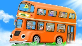 Wheels On The Bus | Songs for Children | Kindergarten Nursery Rhymes